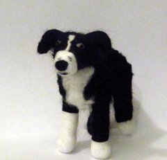 Needle Felted Dog GInger By MaddFelter