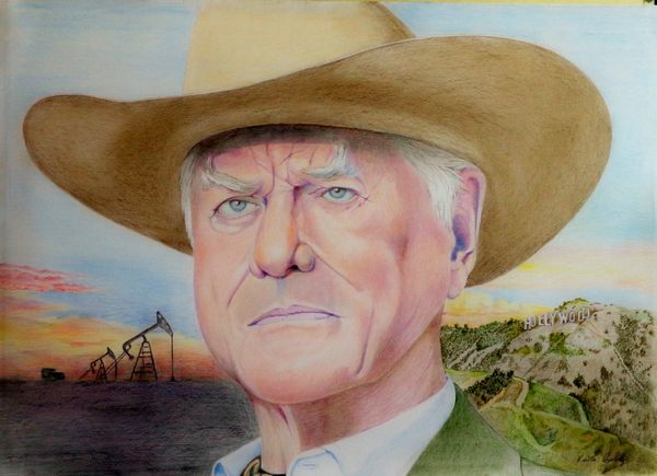Larry Hagman as JR Ewing from Dallas the tv series By Boldy